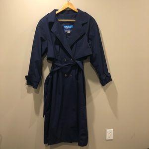 Vintage Navy Trench Coat